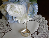 "Antique Silver Plated ""Raphael"" Cream or Sauce Ladle - The Pink Rose Cottage"
