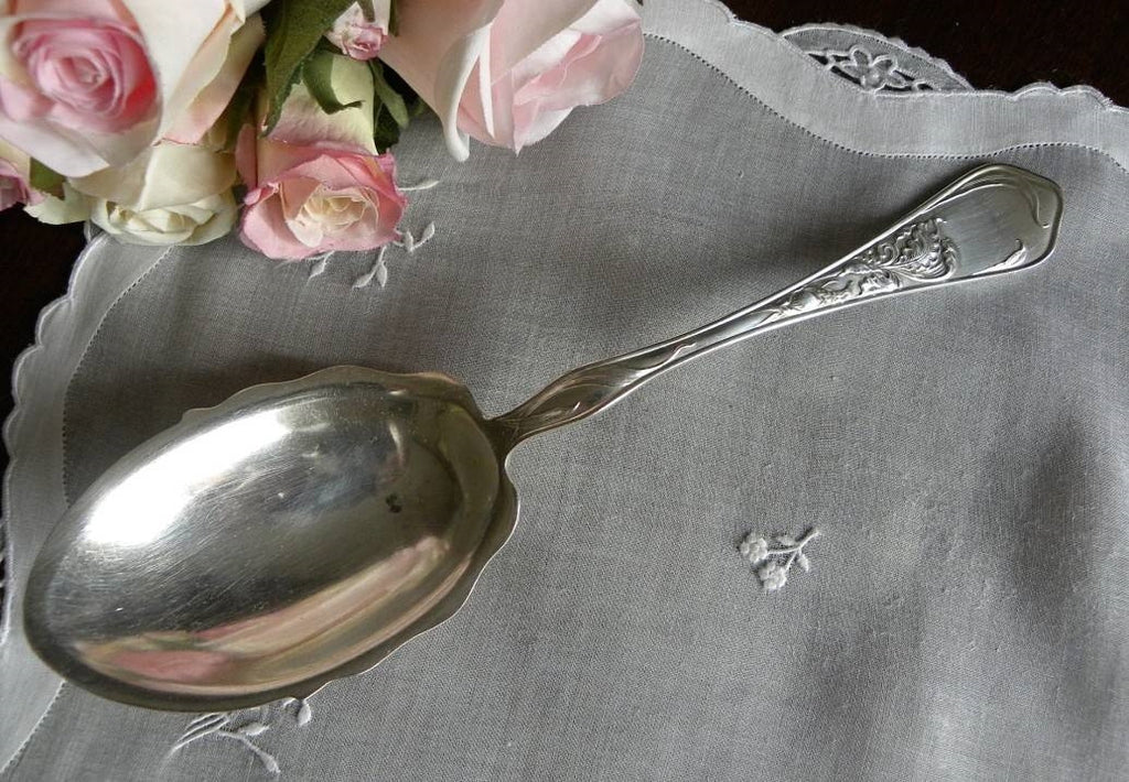 "Antique Smiths Silver Co. ""Iris"" Serving Spoon - The Pink Rose Cottage"