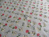 Vintage Pink Rose and Lily of the Valley Handkerchief - The Pink Rose Cottage