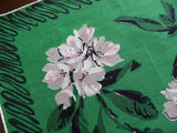Vintage Stylized Rhododendron Handkerchief - The Pink Rose Cottage
