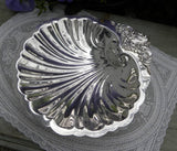 Vintage Silver Plated Wallace Baroque Footed Shell Dish - The Pink Rose Cottage
