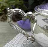 Vintage Silver Plated Lidded Sugar and Creamer - The Pink Rose Cottage