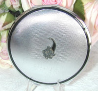 Vintage Philippe Powder Compact with Marcasite Cornucopia - The Pink Rose Cottage