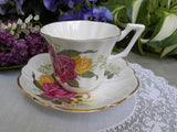 Vintage Pink and Yellow Rose with Lily of the Valley Teacup - The Pink Rose Cottage