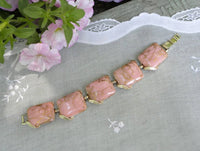 Vintage Pink and Gold Thermo Plastic Bracelet - The Pink Rose Cottage