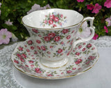 Royal Albert Nell Gwynne Chelsea Pink Rose Chintz Teacup and Saucer - The Pink Rose Cottage