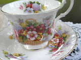 Royal Albert Summertime Series Fairfield Basket of Flowers Teacup - The Pink Rose Cottage