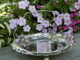 Vintage Silver Plated Handled Basket - The Pink Rose Cottage