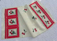 Unused Vintage Startex Cherry Cherries Tea Towel - The Pink Rose Cottage