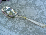 Vintage Silver Plate Sugar Spoon with Laurel Wreath - The Pink Rose Cottage