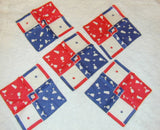 Vintage Patriotic Red White and Blue Cocktail Napkins - The Pink Rose Cottage