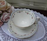 Vintage Petite Pink Roses Teacup and Saucer - The Pink Rose Cottage