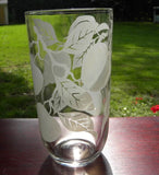 Vintage Drinking Glass with Fall Apple Motif - The Pink Rose Cottage