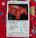 Unused Vintage Wilendur Alpine Holiday Christmas Tablecloth - The Pink Rose Cottage