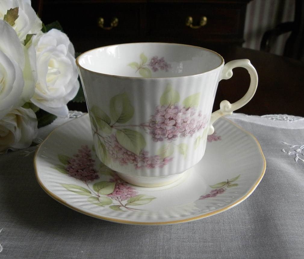 Vintage Old Fashion Lilac Teacup and Saucer - The Pink Rose Cottage