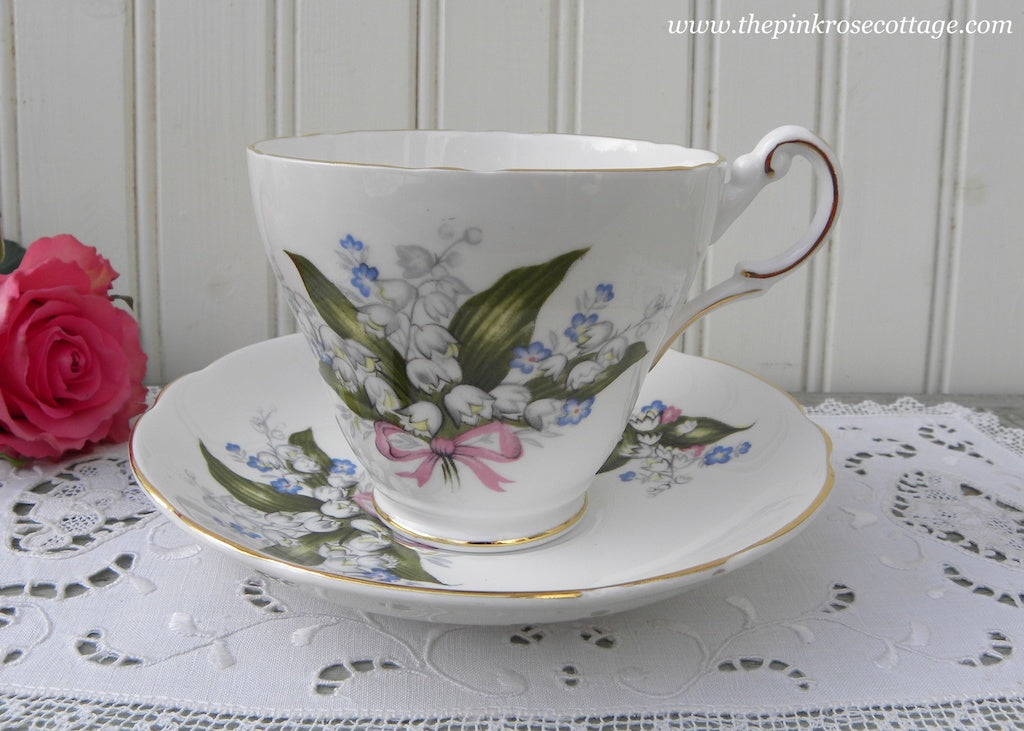 Vintage Lily of the Valley and Forget Me Nots Teacup and Saucer