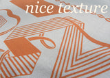 Vintage Rosemary Prints WWII V is for Victory Tablecloth in Peach