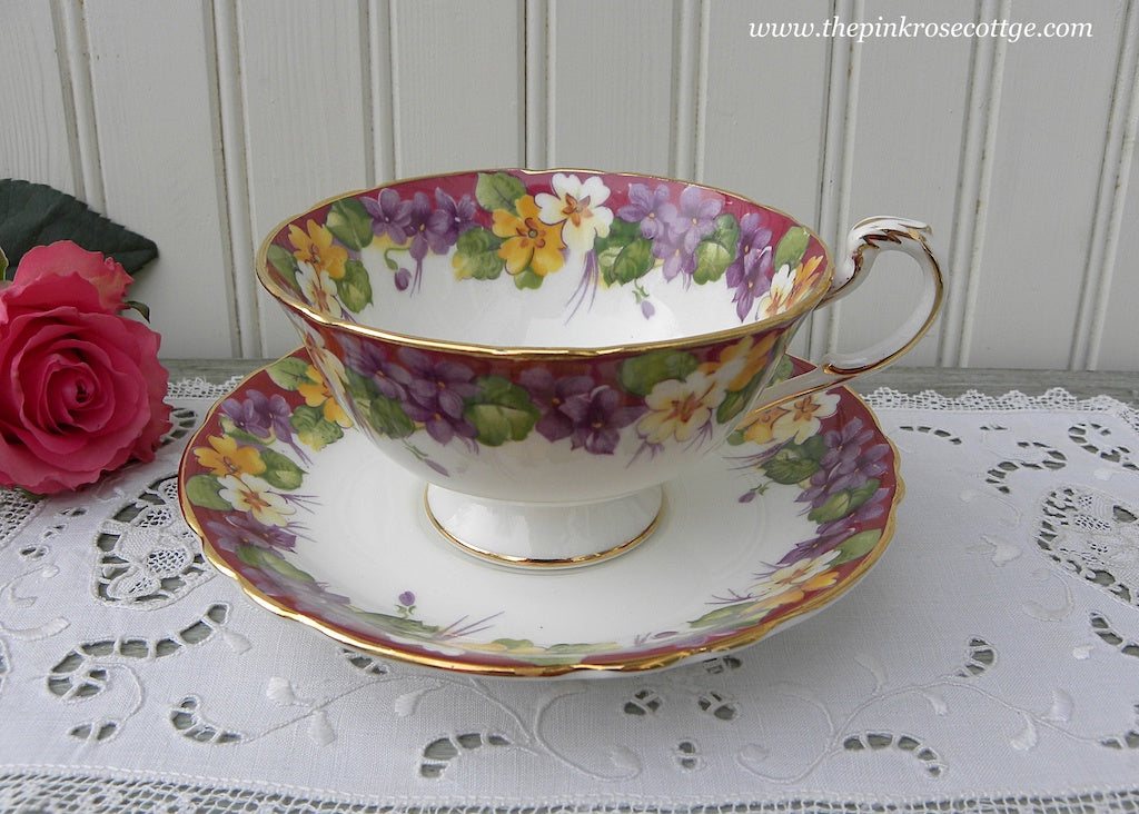 Vintage Paragon Spring Melody Violets Teacup and Saucer