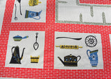 Vintage MWT Modernage Print Grandmother Kitchen Tablecloth