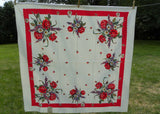Vintage MWT Vicray American Beauty Tablecloth Roses Daisies and More