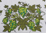 Vintage The Ryan's Mid Century Green Grapes Tablecloth