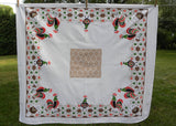 Vintage Chickens Hens Roosters Eggs Whimsical Tablecloth
