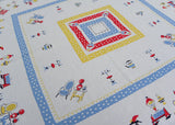 Vintage Tablecloth Grandma's House Antique Furniture Polka Dots