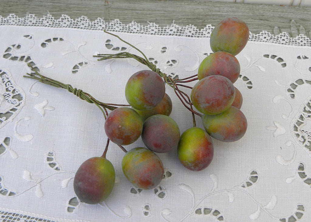 Vintage Plums Fruit Floral Millinery Picks