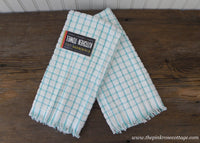 2 Vintage MWT Cannon Terry Cloth Kitchen Towels Teal Checked