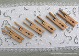 6 Vintage Unusual Wooden Laundry Clothes Pins
