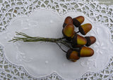 Vintage Fall Acorns Millinery Floral Picks