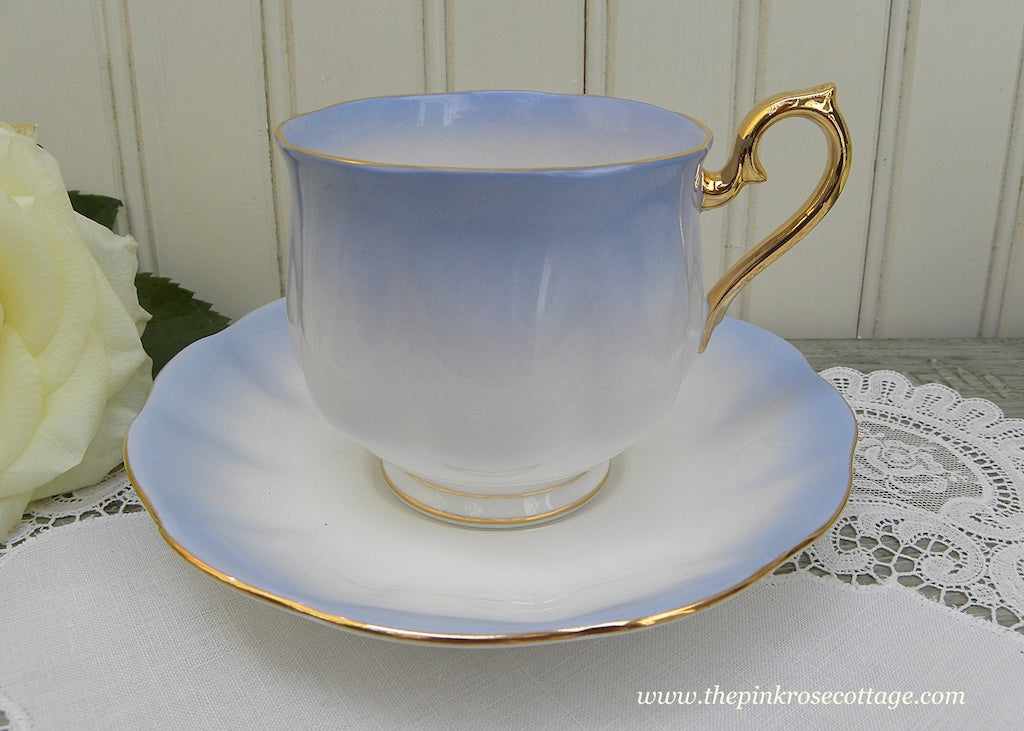Vintage Royal Albert Rainbow Blue Hampton Teacup and Saucer