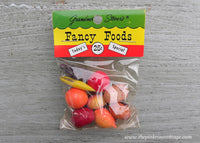 Vintage Grandmother Stover's Party Favors Fruits and Vegetables Miniatures Dollhouse NIP