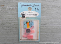 Vintage Grandmother Stover's Doll Accessories How to Be a Model Dollhouse Miniatures