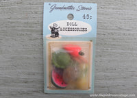 Vintage Grandmother Stover's Party Favors Fruits and Veggies Miniatures Dollhouse