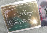 NIP Vintage American Greetings Merry Christmas Self-Stick Gift Cards Gold