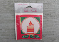 NIP Vintage American Greetings Christmas Candle Self Stick Folded Gift Tags