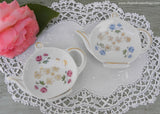 Pair of Vintage Teapot Shaped Teabag Holders