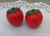 Pair of Vintage Strawberry Strawberries Drawer Cabinet Knobs