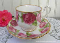 Vintage Royal Albert Old English Rose Teacup and Saucer