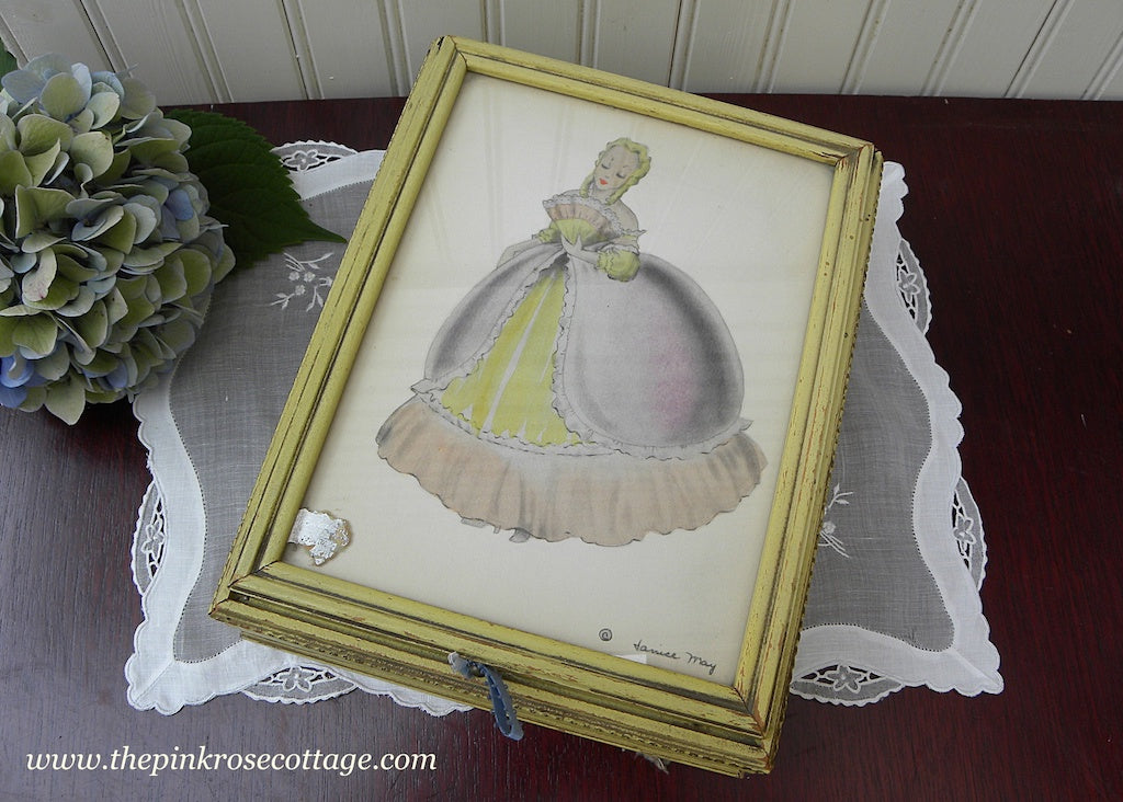 Vintage Southern Belle by Janice May Jewelry Keepsake Box