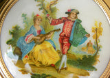 Unused Vintage Lin Bren Ladies Powder Compact with Courting Couple Scene - The Pink Rose Cottage
