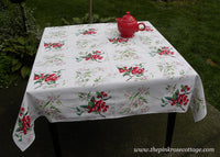 Vintage Wilendur Cherry Cherries Tablecloth