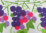 Vintage Vera Bold Pink and Purple Grapes Tablecloth and Napkins Set