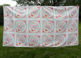 Vintage Pink Celebration Tablecloth Easter Birthday New Years Bridal and More