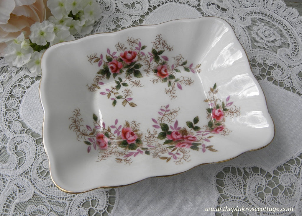 Vintage Royal Albert Trinket Mint Dish Lavender Rose