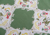 Vintage Simtex Doves Tulips and Hearts Tablecloth