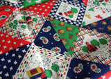 Vintage Farmhouse County Life Quilted-Looking Fabric