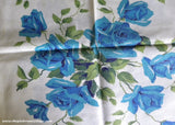 Vintage Blue Royal Rose Wilendur Like Floral Fabric