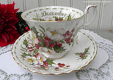 Royal Albert Flower of the Month December Christmas Rose Teacup and Saucer